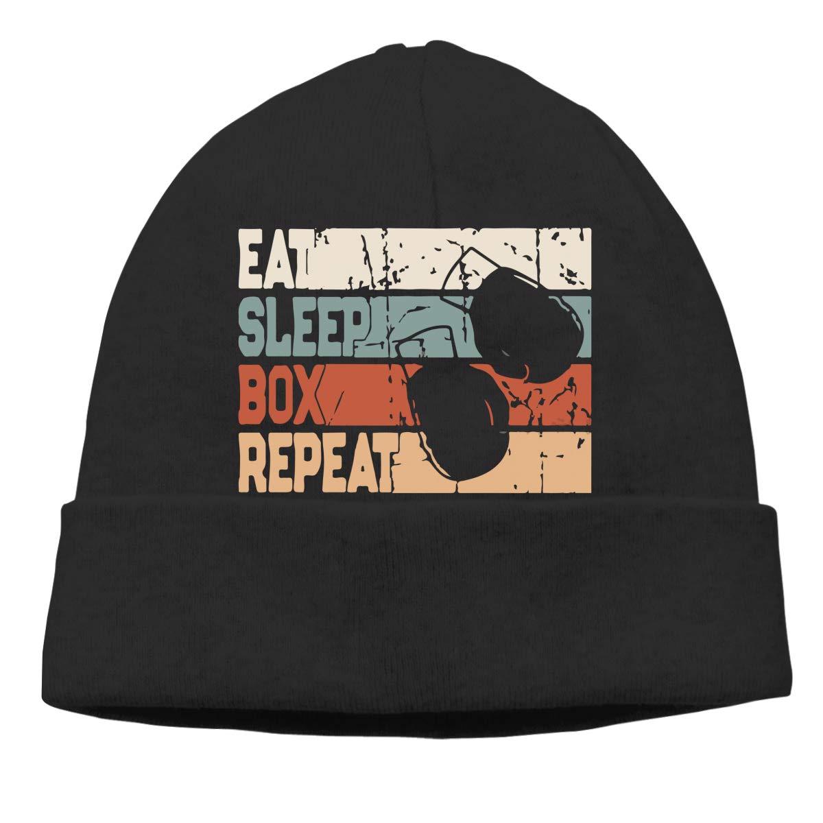 Eat Sleep Box Men Women Great Thermal Sports Beanie Skull Cap