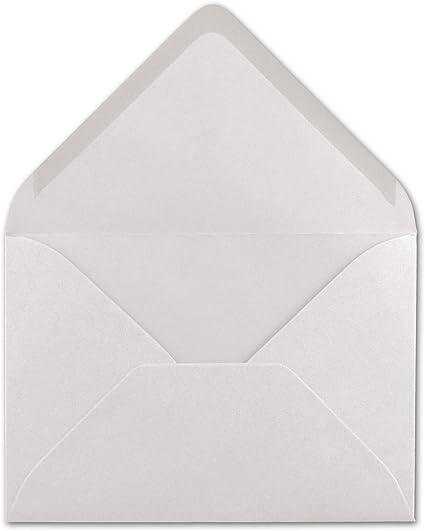 Nassklebung mit spitzer Klappe Natur-Wei/ß- 119 x 174 mm 50x Brief-Umschl/äge Format B6 110 g//m/² Einladungs-Kuverts FarbenFroh/®