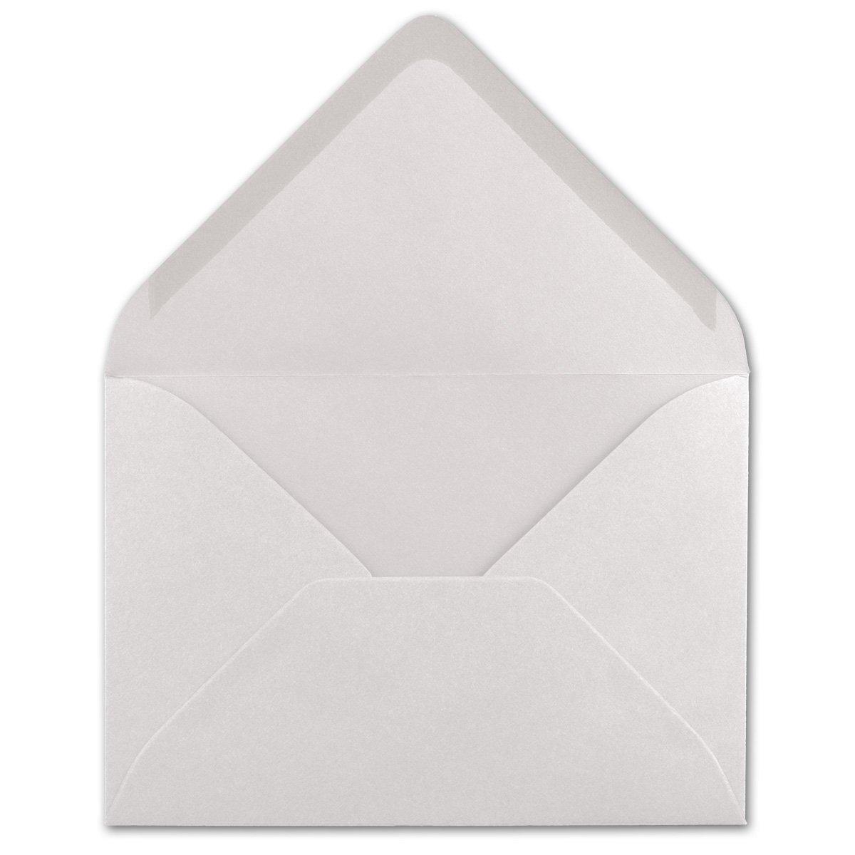 120 g//m/² Nassklebung Brief-H/üllen ohne Fenster f/ür Einladungen von Ihrem Gl/üxx-Agent 11,4 x 16,2 cm 50 DIN C6 Briefumschl/äge Hochwei/ß