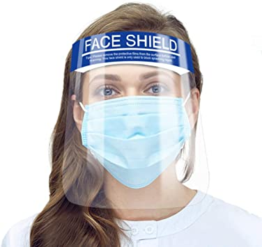 10 pcs Clear Face Shield Protective Covers Elastic Band Protective Equipment
