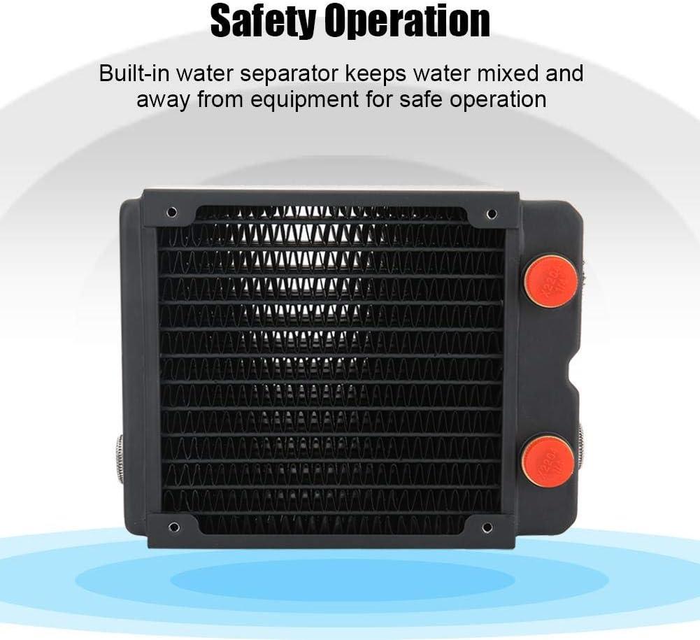 Yoidesu Water Cooling Radiator,3 Layer 12 Pipes Heat Exchanger Radiator for Computer Water Cooling Systems,G1//4 Thread,120mm Water Cooling Radiator