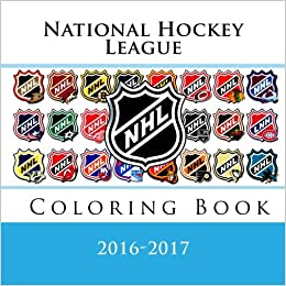 national hockey league coloring book all 30 nhl team logos to color