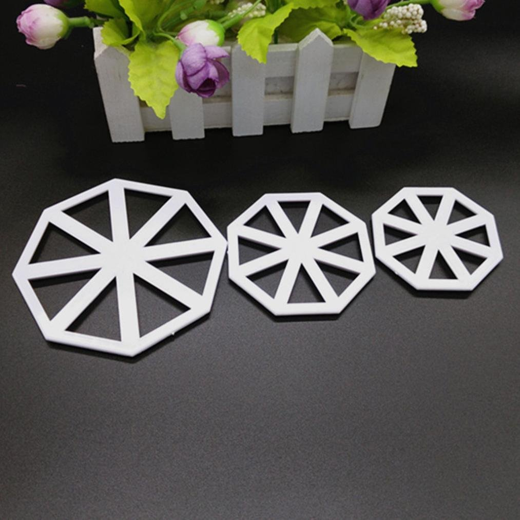 Zomup - Juego de 3 moldes para repostería con diseño de galletas de chocolate: Amazon.es: Hogar