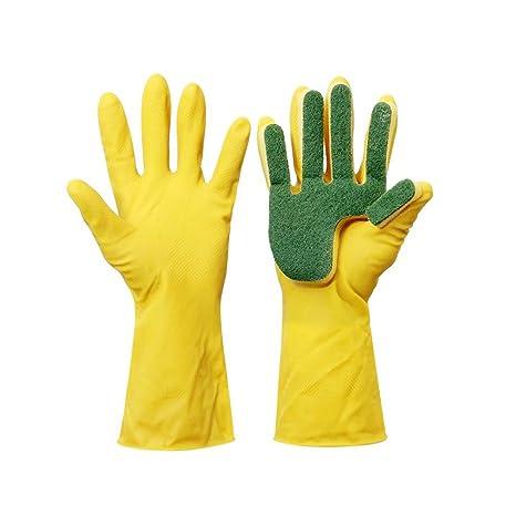 Limpieza Lavado Guantes, guantes de látex, reutilizables Cocina mucho