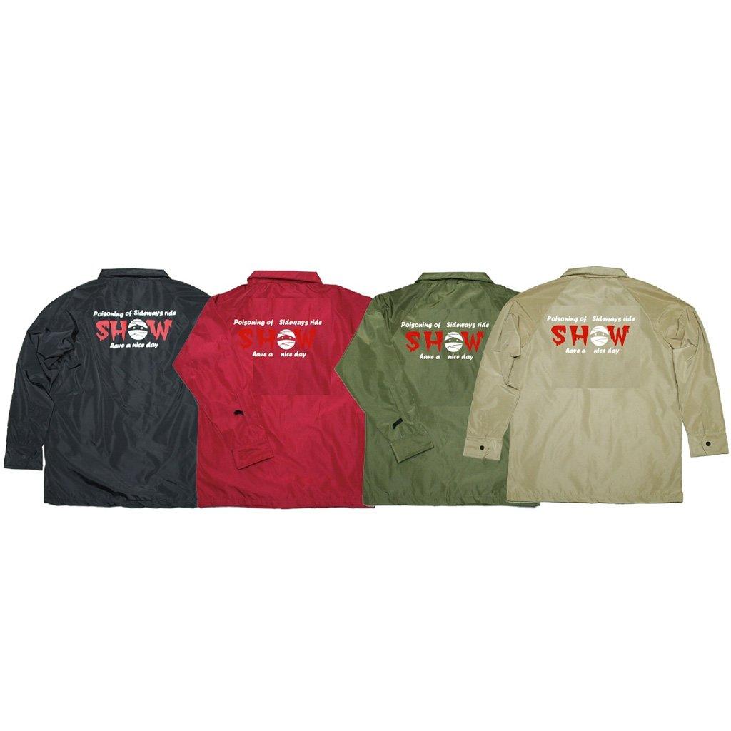 SHOWTIME COLLECTIVE [ 撥水防水耐水スノーコーチジャケット ボア CJK-1802 SHOW @ 13824 ] ショータイムコレクティブ SNOW Coach Jacket B0768HQJQW ベージュ Medium