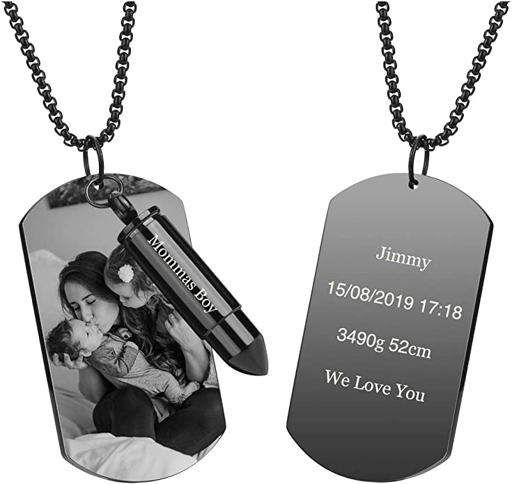 Stainless Steel Cremation Necklace for Ashes Customized Motorcycle Urn Necklace Cremation Necklace Memorial Ashes Keepsake Jewelry-M3