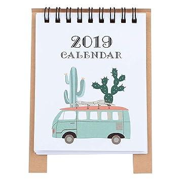 KICC 2019 Desktop Calendar, 2019 DIY Animals Mini Paper ...