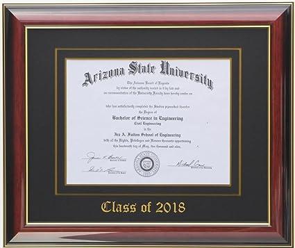 Amazon.com - Diploma Frame 8x6 Mahogany/Black 2018 (Customizable) -
