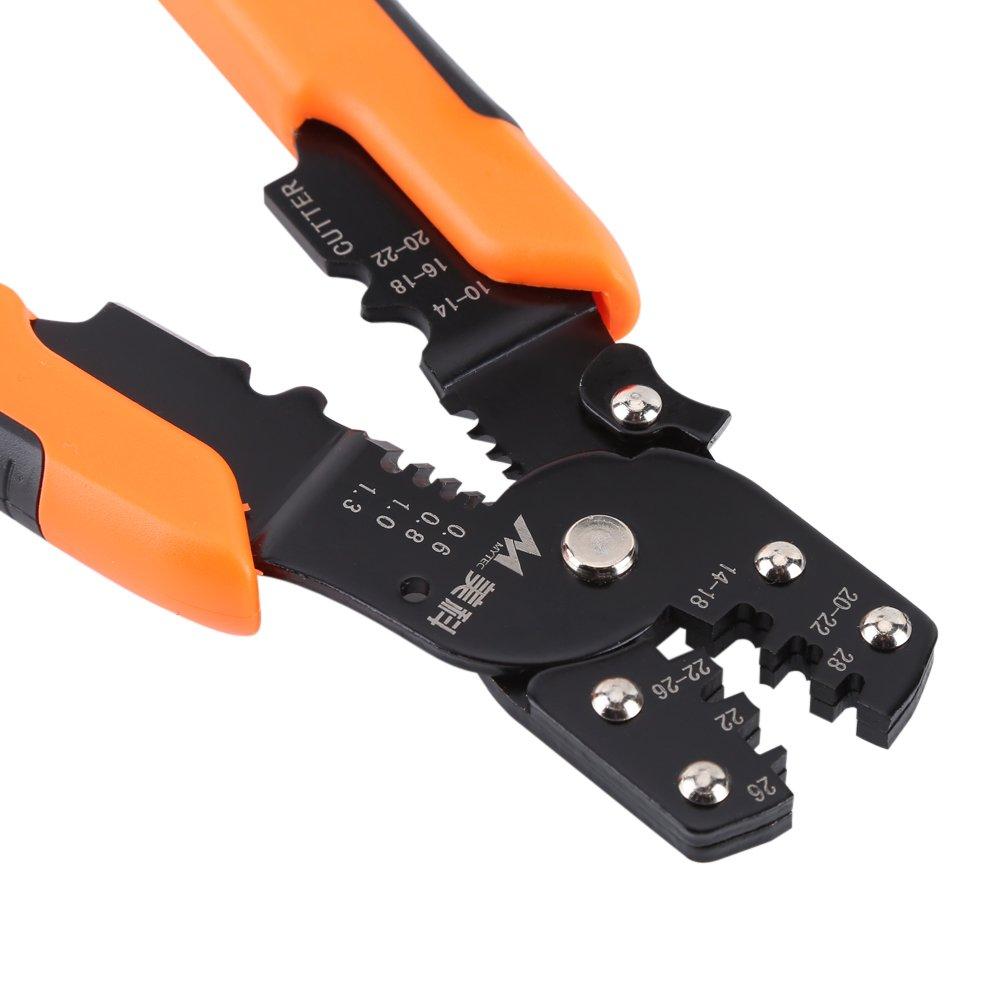 185mm Multifunktions Abisolieren Crimpzange Kabel Abisolierzange Clamping Schneiden Elektriker Handwerkzeug