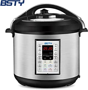 BSTY Electric Pressure Cooker with 13-in-1 Cooking Functions, Programmable 8Qt Slow Cooker with Stainless Steel Inner Pot, Clean Easily, Sterilize, Time Preset, Heat Preservation Pressure Cookers