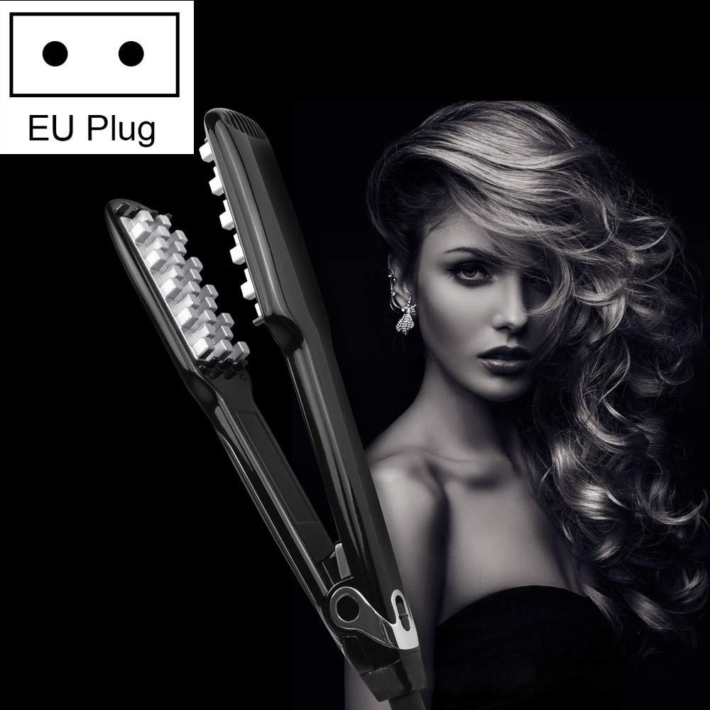 Hair Curler HA 042 WT-042 150W Digital Display Automatic Hair Curler Splint, EU Plug (Black) (Color : Black)