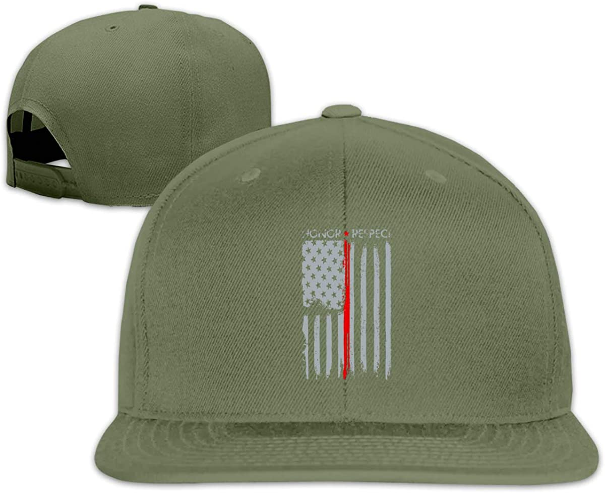 Thin Red Line American Flag Unisex Adult Hats Classic Baseball Caps Sports Hat Peaked Cap
