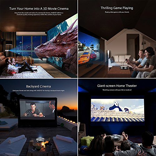 JmGO Mstar 6A918 G1 1500LM LED Projector Multi-Media Player & Smart Home Theater System (Silver)