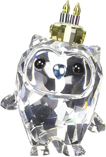 Swarovski Crystal Hoot Happy Birthday Figurine New 2018