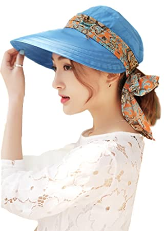 6434895655c Paciffico Women 2 in 1 Foldable Sun Hat With Neck Flap Breathable Quick Dry  360°