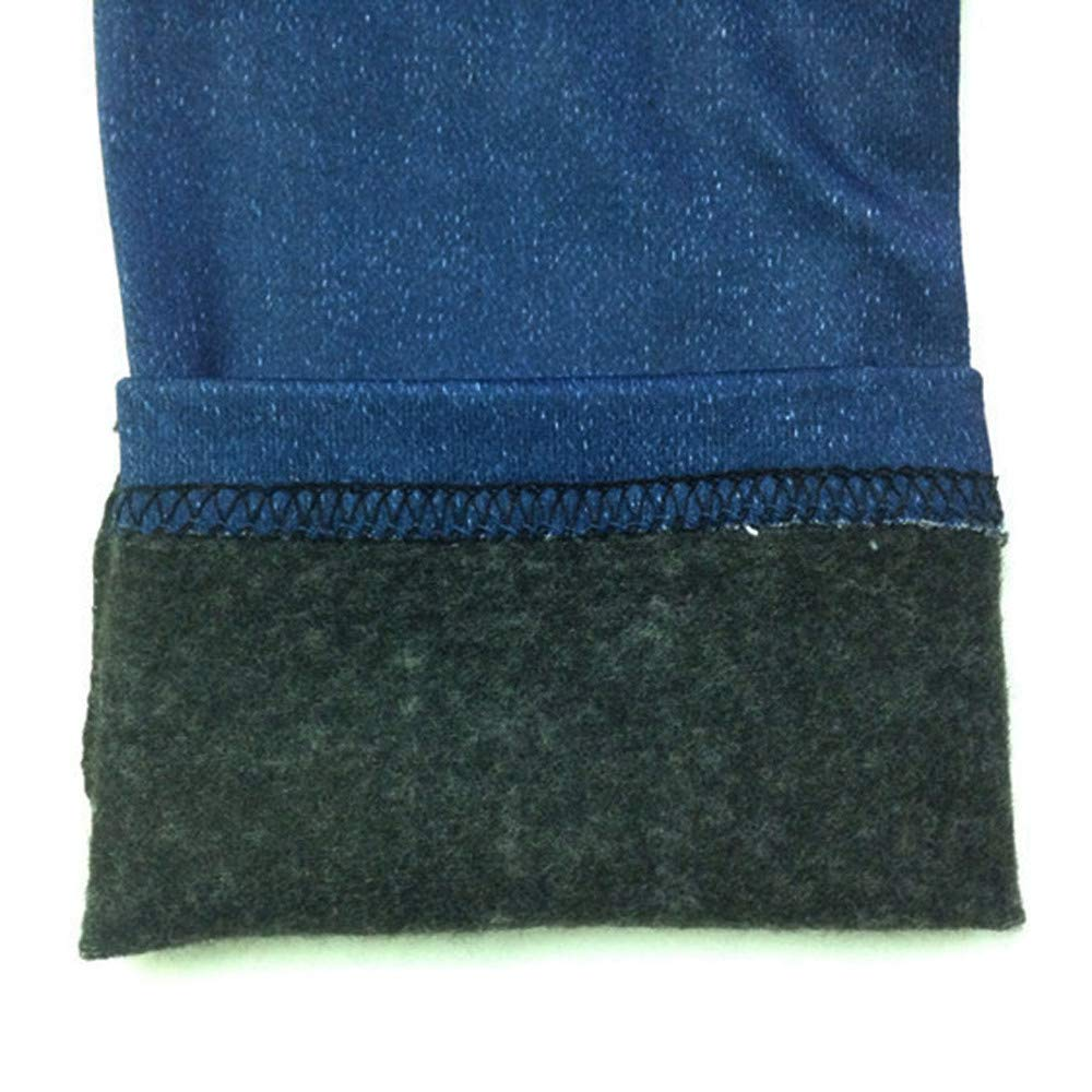 SoonerQuicker Taglie Grandi Pantaloni in Denim da Donna Jeans Tasca Slim Leggings Fitness Plus Size Leggins Jeans