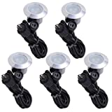 Yescom Set of 5 Deck Light Decor Commercial Outdoor Yard Step Stair Lamp Cool White Garden IP65 Lamp