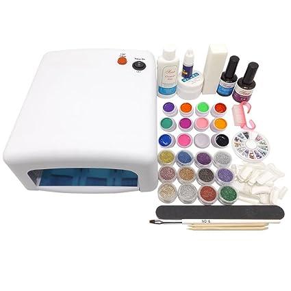 Cálido Girl Pro Full lámpara de curado Blanco 36 W Secador y 12 color Pure UV