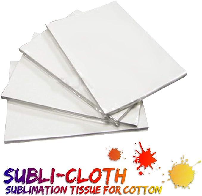 Subli-Cloth - Juego de 20 hojas de tela de sublimación de algodón, tamaño A4, 21 x 29 cm: Amazon.es: Oficina y papelería