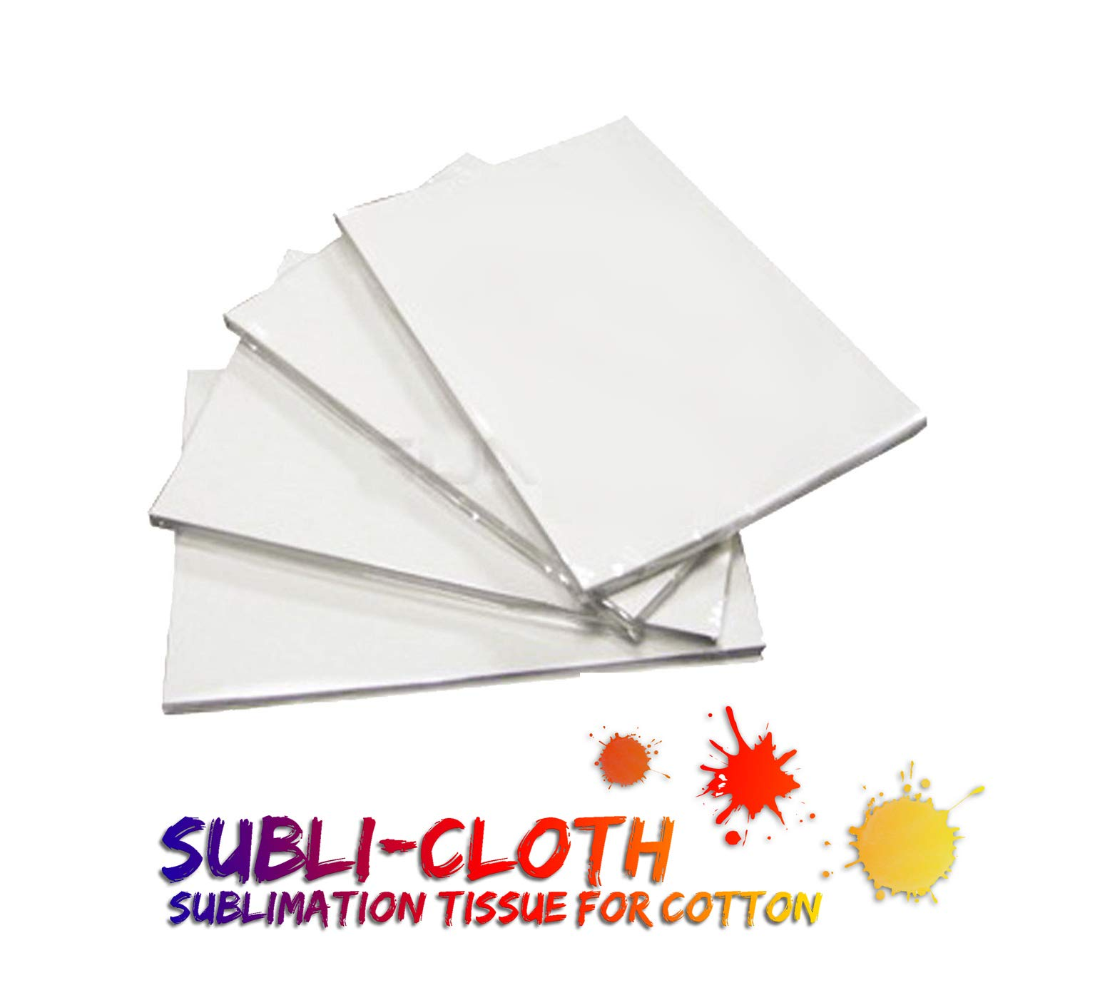 Subli-Cloth Cotton Sublimation Dark & Light Cloth Fabric Sheet Pack x 20 Units A4 (8.5'' x 11.5'') (21cmx29cm)