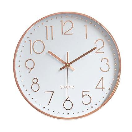 nice looking modern wall clocks amazon. Foxtop Modern Large Decorative 12 inch Battery Operated Silent  Non ticking Wall Clock Amazon com