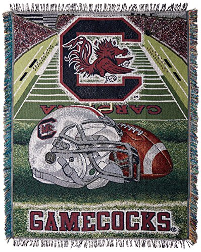The Northwest Company Officially Licensed NCAA South Carolina Gamecocks Home Field Advantage Woven Tapestry Throw Blanket, 48