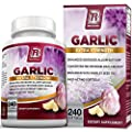 BRI Nutrition Odorless Garlic 1000mg Pure And Potent Garlic Allium Sativum Supplement (Maximum Strength)