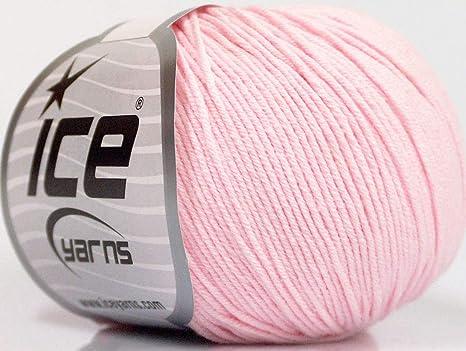 Lote de 4 madejas de hilo de hielo de algodón Amigurumi para bebé, color rosa: Amazon.es: Juguetes y juegos