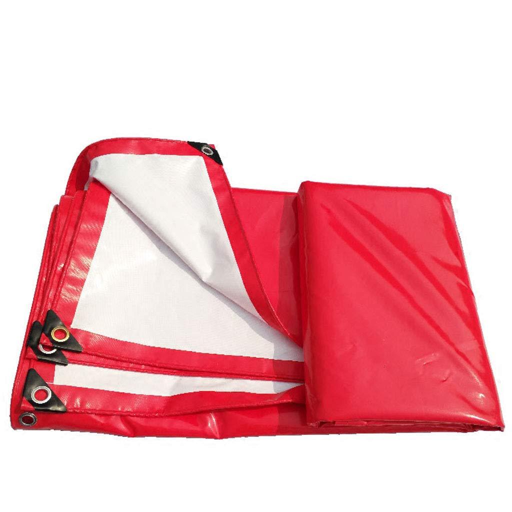 ZJ-Zeltplanen Rote und weiße PVC-Baldachin Top Tuch wasserdicht Sonnencreme Abriebfeste Zelt Wasserdichtes Tuch (größe   2  3m)