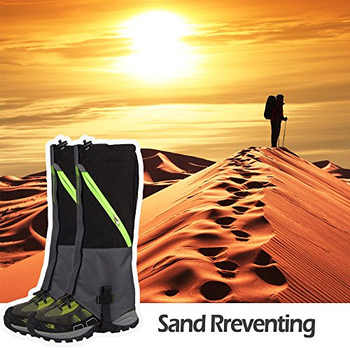 IC ICLOVER Outdoor Leg Gaiters, Breathable Waterproof High Leg Legging Cover Snow Gators - Keep Water, Mud, Snow & Debris Out, Protect Against Sharp Rocks, Bush, Inserts - For Hiking Climbing Hunting by IC ICLOVER (Image #8)