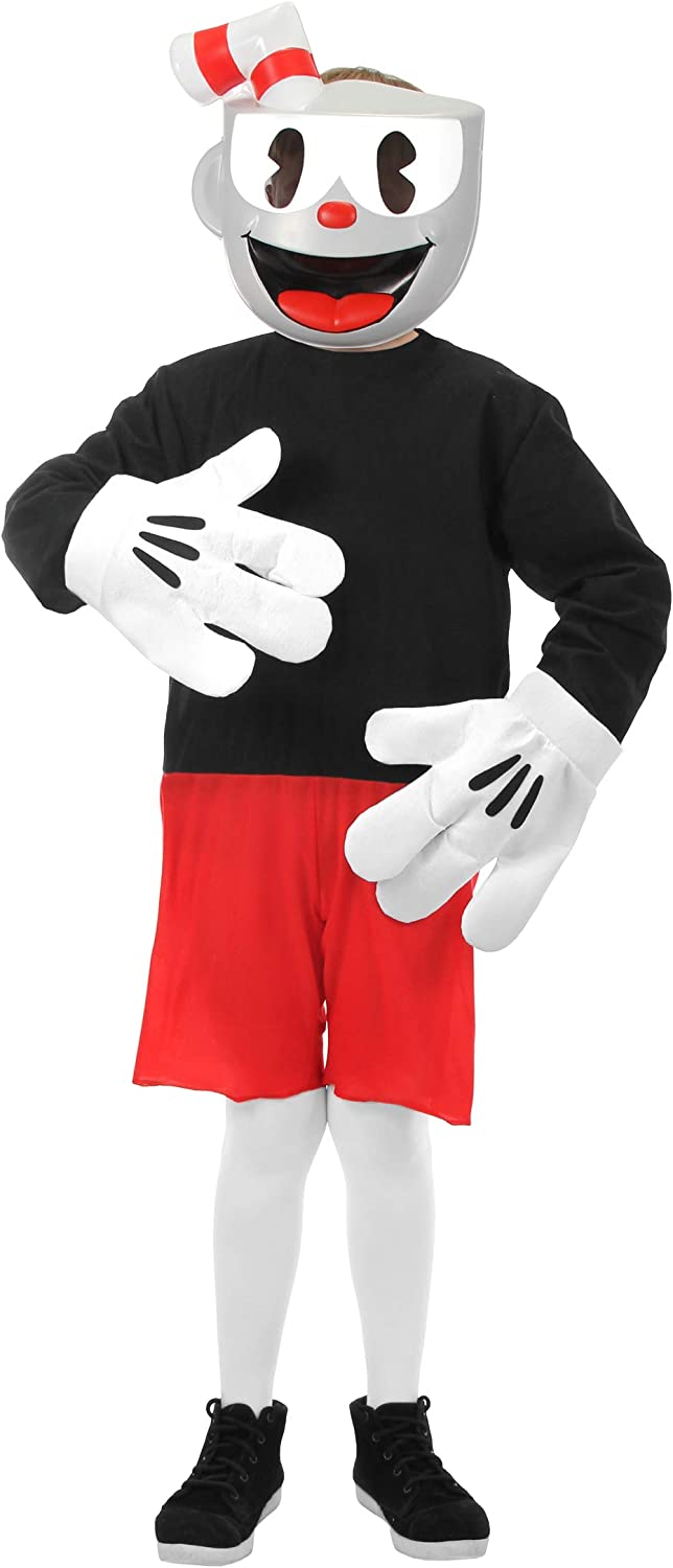 elope Cuphead Cosplay Basic Costume Kids
