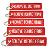 pews for sale Rotary13B1 Remove Before Firing - Key Chains - Red/White - 5pcs Sale!