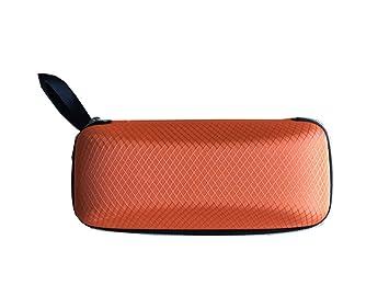 Da.Wa Brillenetui-Gummierte Außenschale harte Außenschale Zipper-Box fur Sonnenbrille,17cm 7cm 6cm,Lila