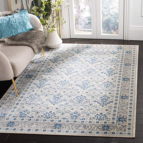 Safavieh Brentwood Collection BNT870G Area Rug, 9 x 12 , Light Grey Blue