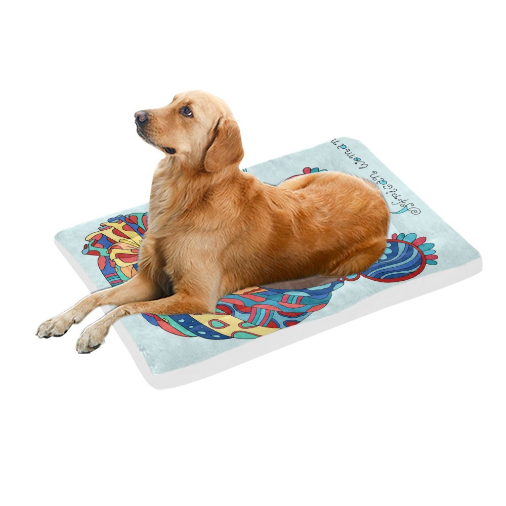 42\ your-fantasia A Beautiful african Girl in a Scarf Drape Pet Bed Dog Bed Pet Pad 42 x 26 inches