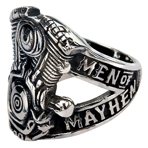 Sons Of Anarchy Women Costume (Inox Sons Of Anarchy Men Of Mayhem Stainless Steel Ring - V-Twin Engine Sz 8)