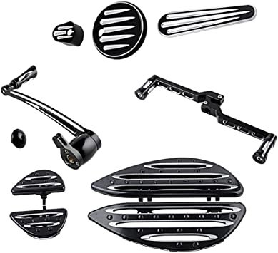 Toe Heel Shift Lever Shifter Peg Driver /& Passenger Floor boards Brake Arm Peg Pedal Dash Accessory Pack Frame Grille Cover Compatible with 09-13 Harley Touring