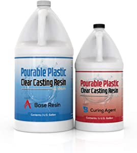 Pourable Plastic Clear Casting Resin 1.5 Gallon Kit, Deep Pours Up to 2