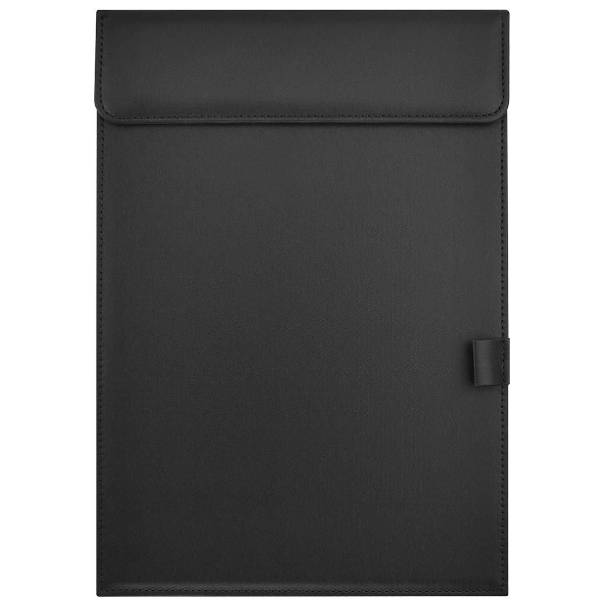 Leather Folder, Zubita Professional Document Holder Notepads and Writing Pads Padfolio Folder for Resumes Interviews and Meetings ( Black ) by Zubita (Image #1)