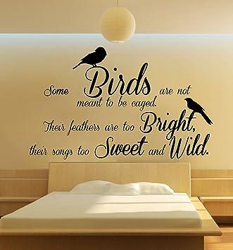 Zitat Einige Vögel Käfigbetten Schlafzimmer Art Wand Gratis Rakel