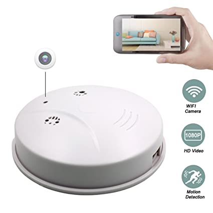 Sunsome Upgrade WiFi Hidden Spy Camera Smoke Detector,HD 1080P Nanny Cam Motion Detection Wireless