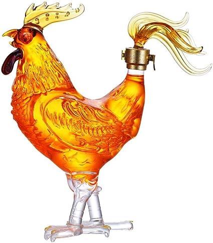Hokaime Jarra de Whisky, diseño Divertido de Forma de Gallo ...