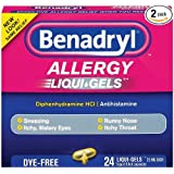 Benadryl Dye-Free Allergy Reliefs, 24-Count Liqui-gels (Pack of 2)