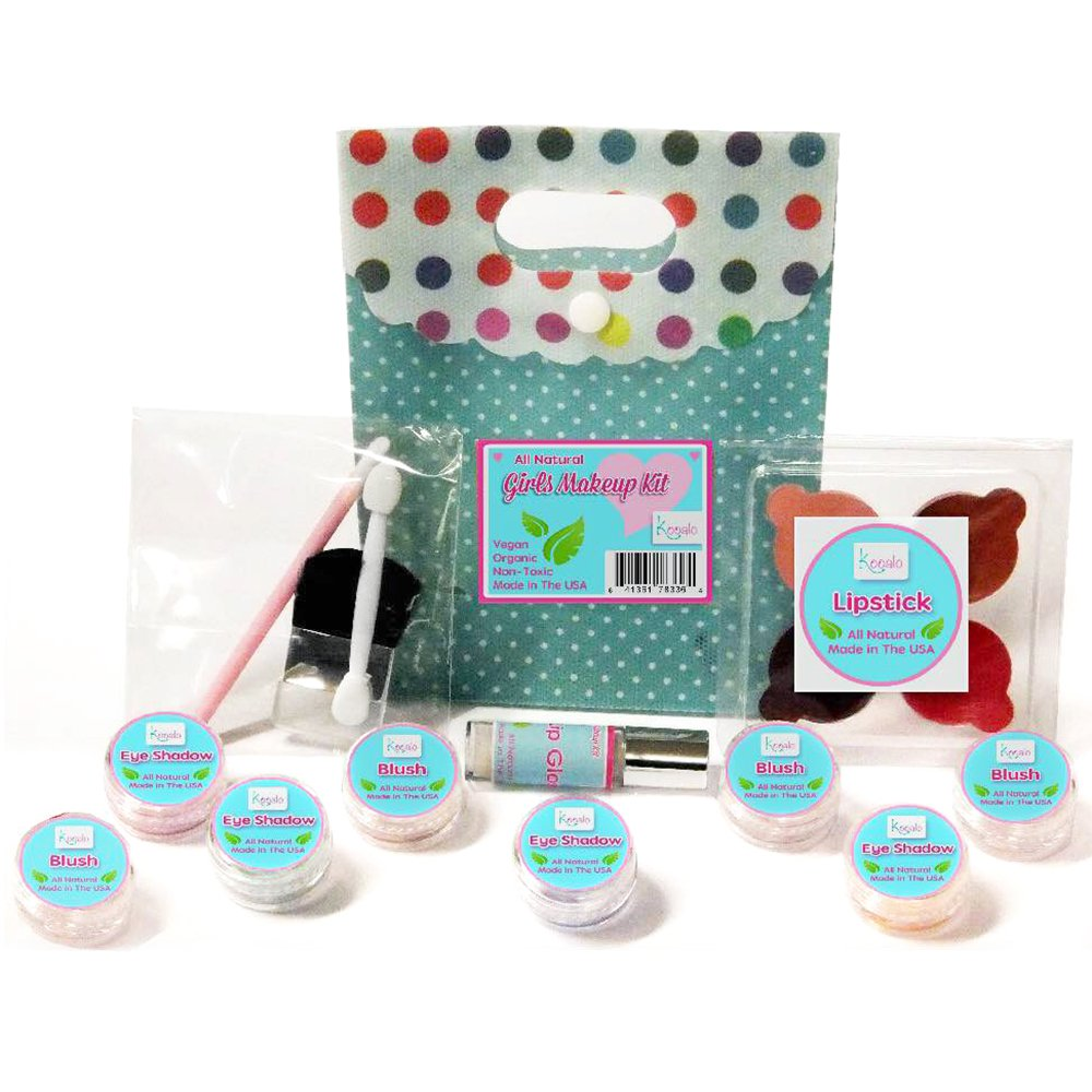 A variety of cosmetics for children