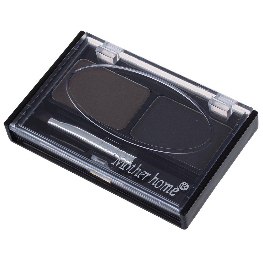 SODIAL(R) Cejas Plantillas y Multi Color Para Impermeable Cejas Sombras - gris y negro