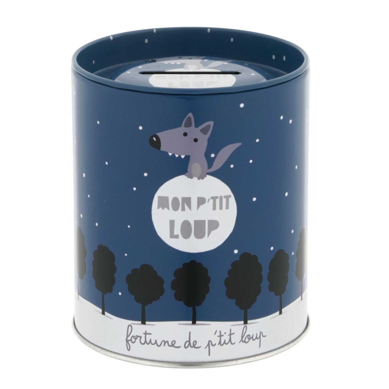 Derrière La Porte DLP : Tirelire - Mon Petit Loup - en Métal Bleu pour Enfant Garçon product image