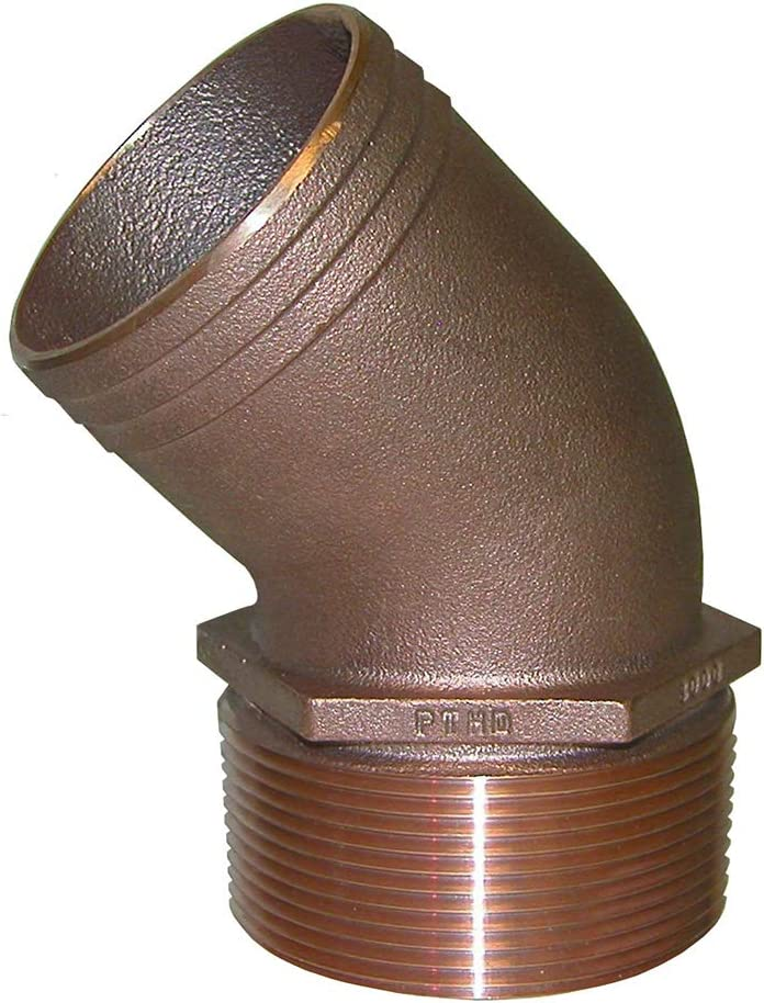 """Groco Pipe-to-Hose Adapter, 45xb0; 3/4"""" ID"""