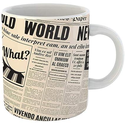c6b0f5dc0c7 Amazon.com | Coffee Tea Mug Gift 11 Ounces Funny Ceramic Yellow ...