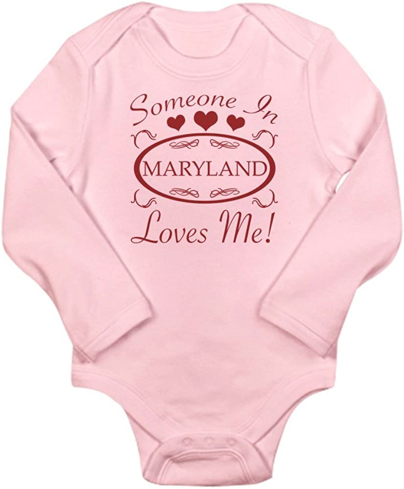 CafePress Somebody in Maryland Loves Me Body Baby Bodysuit
