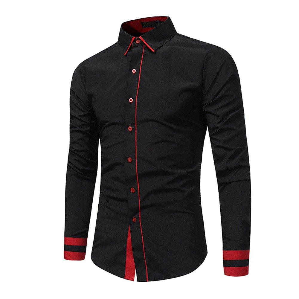 Camisa manga larga para hombre moda fashion 2018,Sonnena ❤ Camisa formal casual otoño de los hombres Camisa de manga larga Slim Fit de patchwork Blusa ...